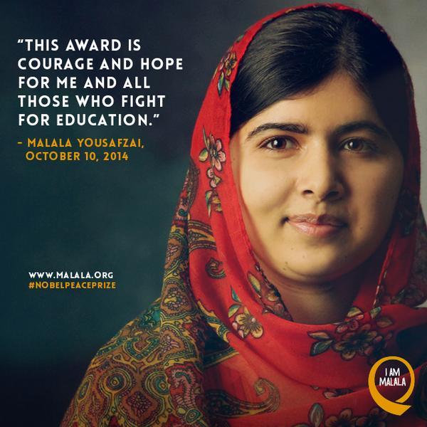 Peace prize represents for malala courage and hope talimiakhbar